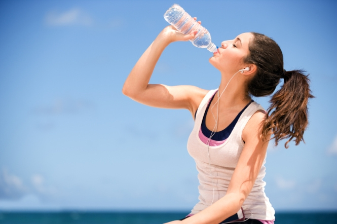 Water after exercise